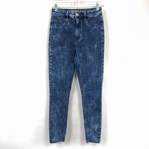 American Eagle Sky High Jegging Acid Wash 3621